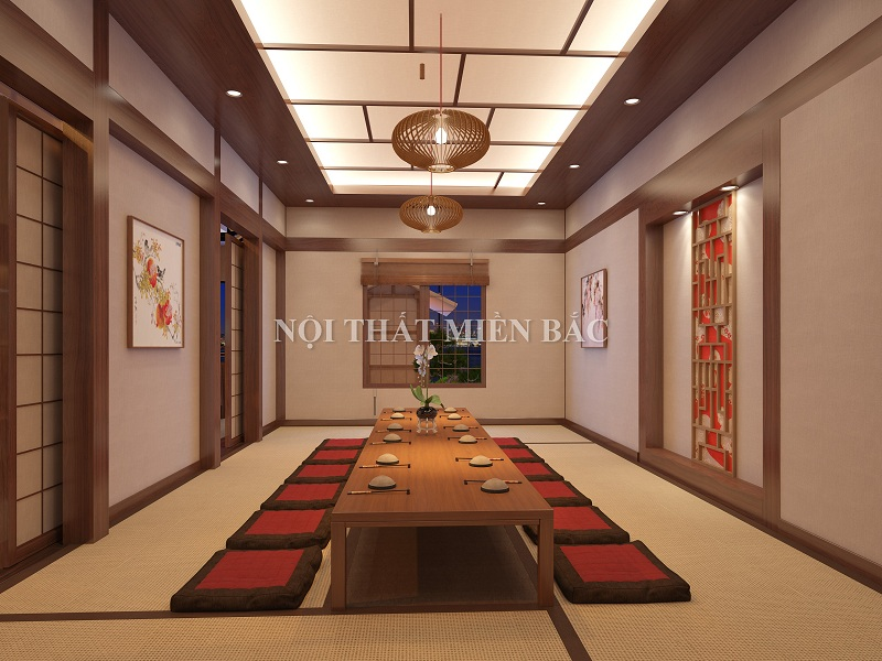 Mẫu thiết kế nhà hàng Nhật Bản sang trọng, hiện đại
