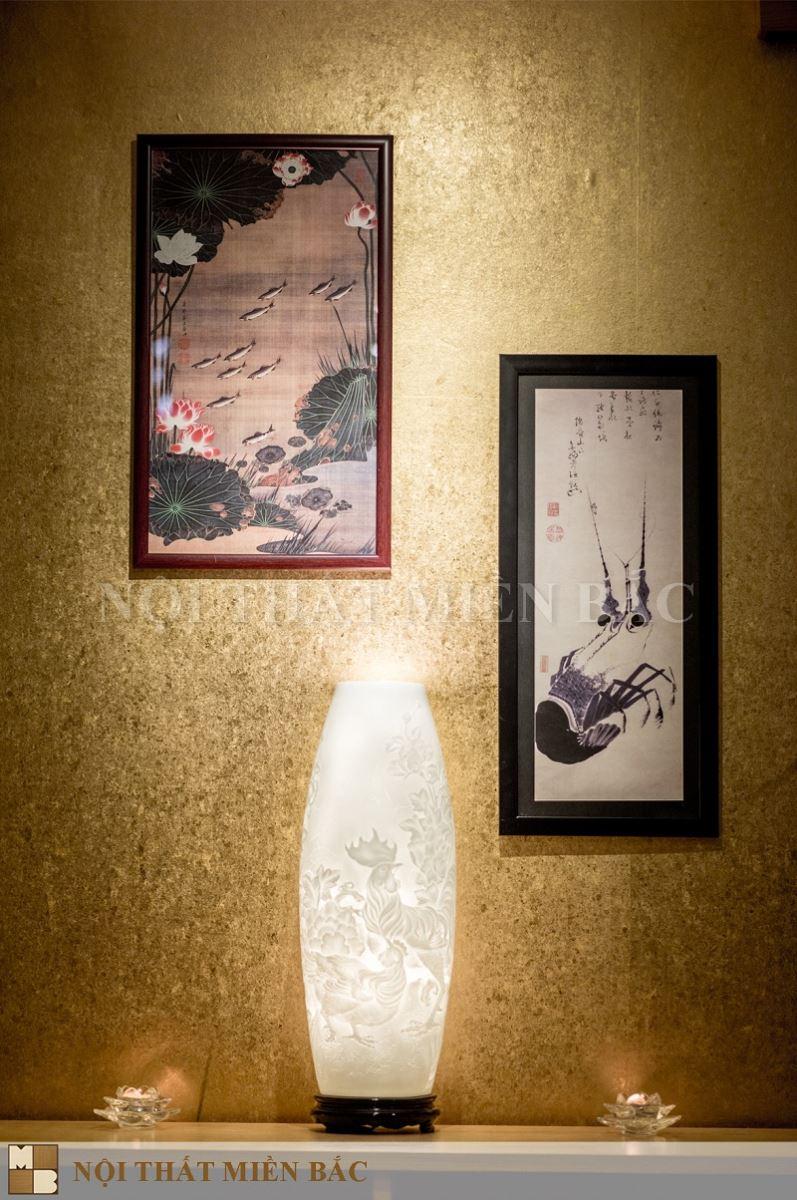 Tạo ấn tượng cho thiết kế nhà hàng phong cách Nhật bằng tranh truyền thống
