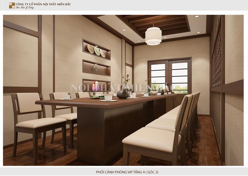 Thiết kế nhà hàng cao cấp không thể thiếu phòng VIP