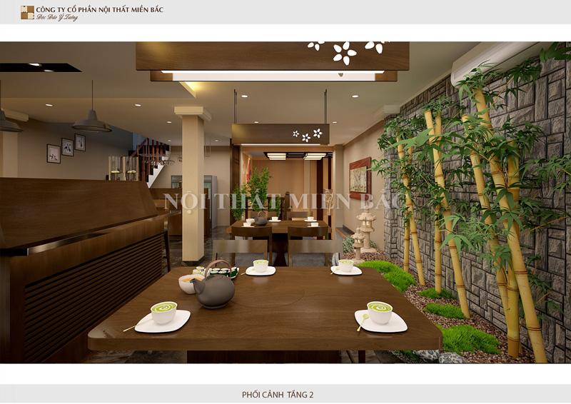 Gam màu sử dụng cho thiết kế nhà hàng phong cách Nhật