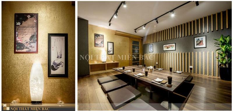 Đầu tư vốn khi thiết kế nhà hàng trọn gói phong cách Nhật