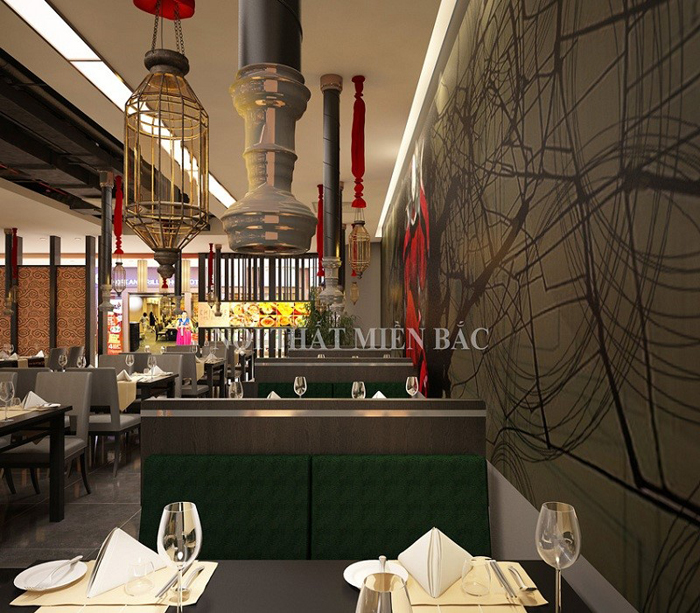 Thiết kế nhà hàng trung hoa cổ điển đẹp độc đáo
