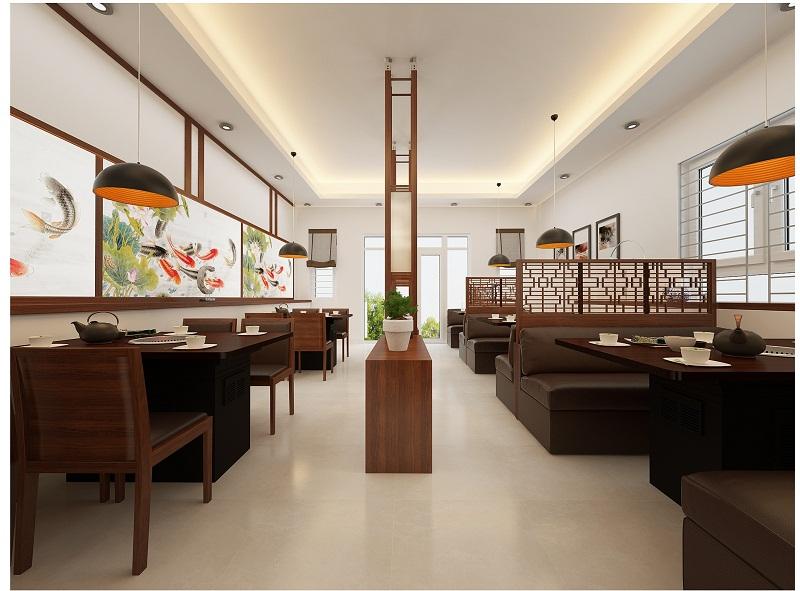 Thiết kế nội thất nhà hàng cao cấp tầng 2